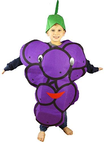 [Purple Grape Fruit Costume Set Party Wear Unisex Children Clothing (Purple)] (Fruit Costumes For Kids)