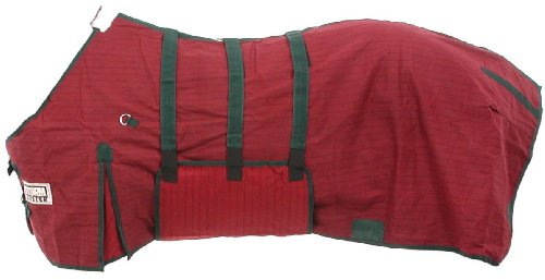 Tough 1 Storm-Buster Belly-Wrap Blanket, Burgundy, 72-Inch
