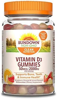 Sundown Vitamin D3 2000 IU, 90 Gummies