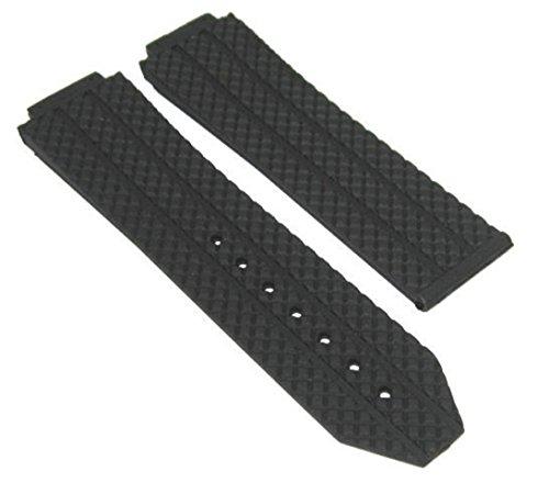 Rubber Chrono Strap (24MM Rubber Diver Band TIRE Strap for HUBLOT H Big Bang Ceramic Chrono Black #6H)