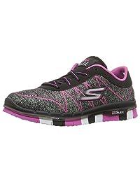 Skechers Kids Girls' GO Flex-Ability Sneaker, Black/Hot Pink, 10.5 M US Little Kid