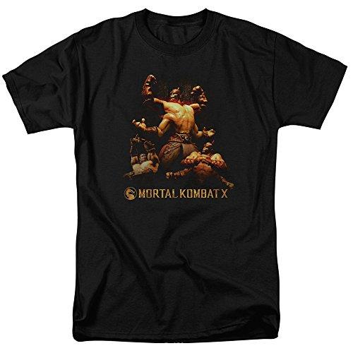 Trevco Men's Mortal Kombat X Short Sleeve T-Shirt, Black, Large for $<!--$13.00-->