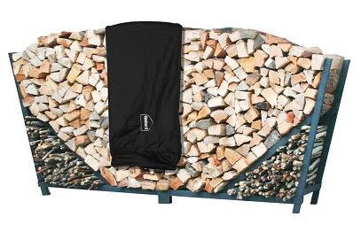 - ShelterIt 8' Slanted Firewood Log Rack with Kindling Kit and 1' Cover