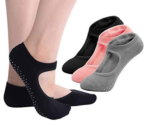 - Yoga Socks No Slip for Women, Ladies Girls Non Skid Socks With Grips Pilates Ballet Barre Dance Socks