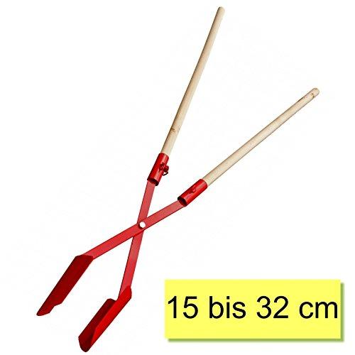 Erdlochschaufel 15-32 cm Gr.2 Lochspaten Erdlochausheber Erdlochheber Handbagger Lochschaufel handlochschaufel mit 2 Stück Hartholzstiele