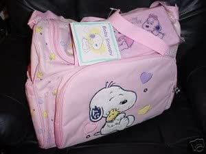 Amazon Com Snoopy Baby Diaper Bag Pink Girls New Large