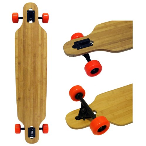 家ゾーンシリンダーBamboo Drop Thru Longboard 9.25x42 W/ 76mm Orange Wheels & Abec 7 Bearings by TGM Skateboards