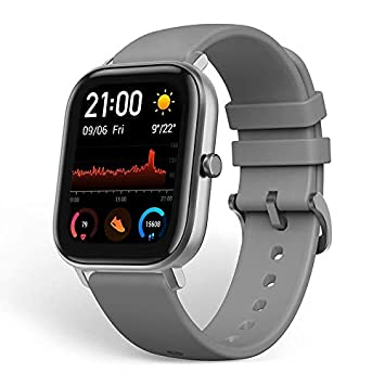 Amazfit GTS Smartwatch Fitness Tracker with Built-in GPS,5ATM Waterproof,Heart Rate, Music, Smart Notificatons(Gray)