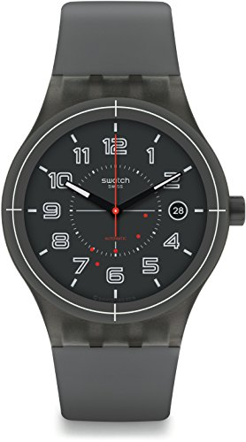 Swatch Men's Originals SUTM401 Grey Plastic Swiss Automatic Fashion (Swatch Automatic Watch)