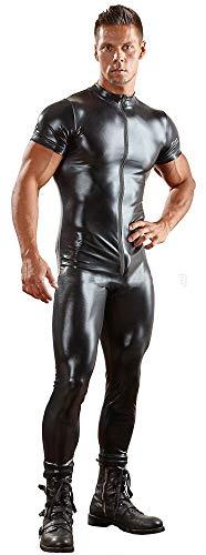 Aderente Body Verniciata black Manica Doppia Arena Sacco Sexy Discoteca Xsqr Costume l Con Testa Cerniera Pelle Ds Maschi Corta BTXnxp
