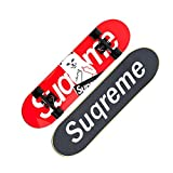 ZX Double Tilt Skateboard Adult Beginner Girl Long Board Boy Travel Four Rounds Scooter Highway Brush Street Profession Luminous (Color : Red cat horizontal version)