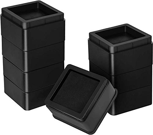 Utopia Bedding Furniture and Bed Risers - 2 Inch Stackable Square Risers for Sofa, Table, and Chair Lifts up to 10,000 Lbs - includes Durable Plastic and Anti Slip Foam Grip (Pack of 8)
