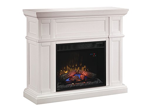 ClassicFlame 28WM426-T401 Artesian Wall Fireplace Mantel, White (Electric Fireplace Insert sold separately)