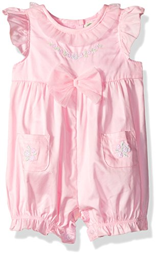 Sunsuit Woven - Little Me Baby Girls' Woven Sunsuit, Pink, 9 Months
