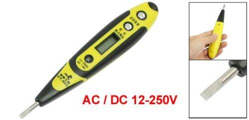 eDealMax AC/DC 12-250V écran LCD numérique Test de Tension Pen