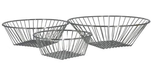 DecoBros 3-Tier Wire Hanging Basket, Chrome