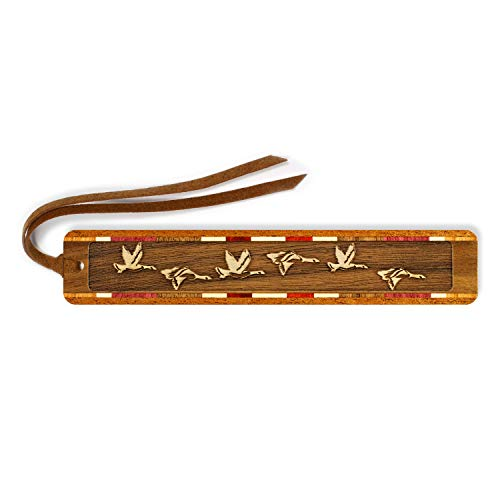 Geese - Birds- Engraved Wooden Bookmark with Tassel