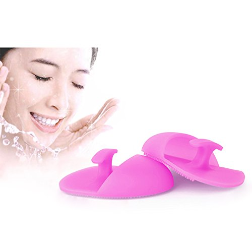 Saking Silicone Makeup Brush Cleaner Finger Glove Scrubber Cosmetic Cleaning Tools(4 Pack) (4 Smart Piece Set Luggage)