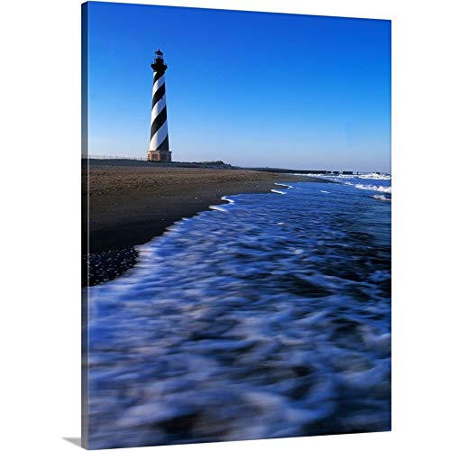 Panoramic Images Premium Thick-Wrap Canvas Wall Art Print Entitled Cape Hatteras Lighthouse on The Coast, Hatteras Island, Outer Banks, North Carolina 12