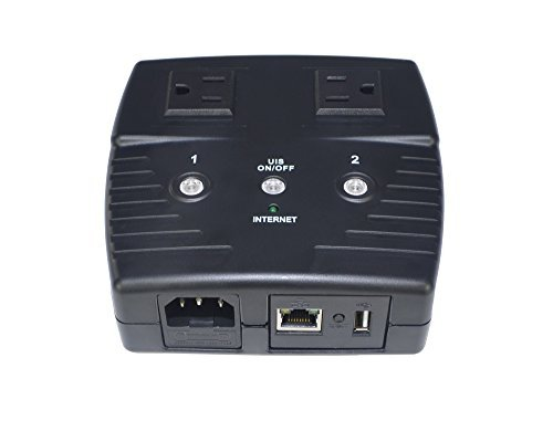 MSNSwitch Internet Enabled IP Remote Power Switch with Reboot (AC Power / 2 Outlets / Web Interface / Newest Model 522B)