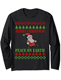 Ugly Sweater Party T-shirt - Merry Christmas Big Santa