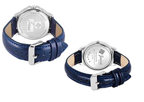 Jainx Blue Day and Date Function Analog Watch for Couple - JC477