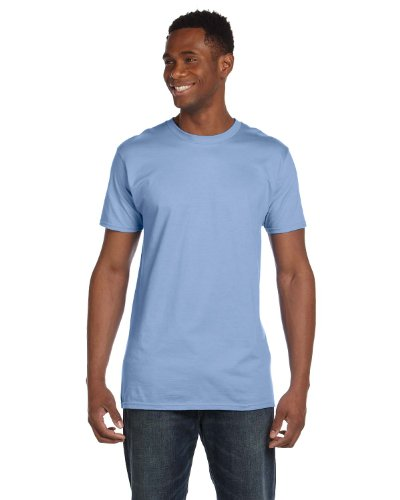 Hanes 4980 Mens Nano T-Shirt 1 Light Blue + 1 Vintage Navy