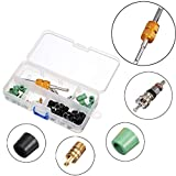 zilzol Valve Core Tool Dual Style Hose Valve Stem Gasket's Parts Rubber Gasket Assortment Kit Set