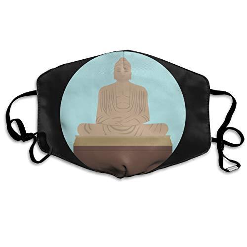 SDQQ6 Great-Buddha-of-Thailand Mouth Mask Unisex Printed Fashion Face Mask Anti-dust Masks -