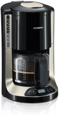 Severin 4150 - Cafetera con Temporizador Negra y Titanio: Amazon.es: Hogar