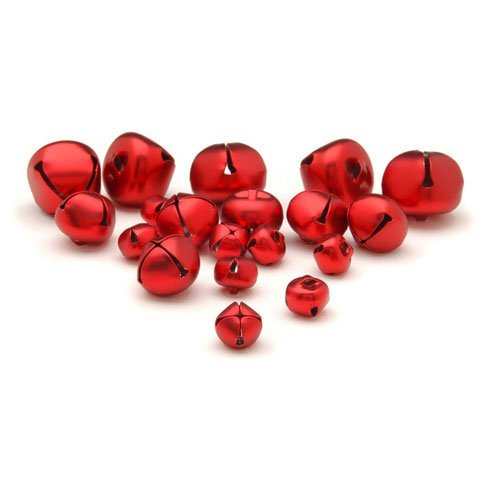 Bulk Buy: Darice DIY Crafts Jingle Bells Red Assorted Sizes 19 pieces (3-Pack) 1099-94