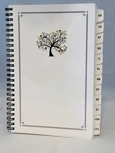 Large Print Password Book, Website Organizer, Internet Address Book A-Z Tabs Personalized Gifts