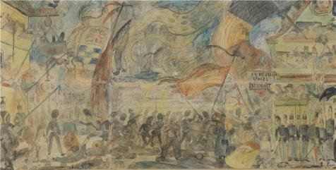 [High Quality Polyster Canvas ,the Vivid Art Decorative Canvas Prints Of Oil Painting 'James Ensor - The Strike, 1888', 8x16 Inch / 20x40 Cm Is Best For Wall Art Gallery Art And Home Artwork And] (Goth Ann Teen Costumes)