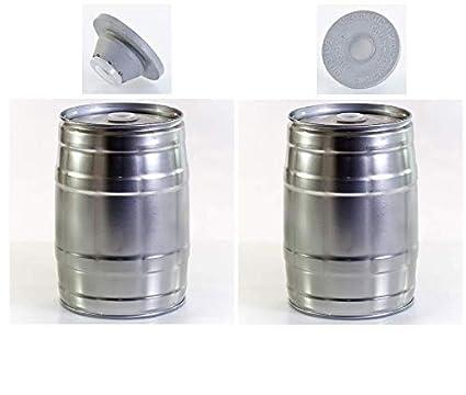 Brauen.de Paquete de 2 barriles de 5 litros para Fiesta (Incluye 3 Tapones