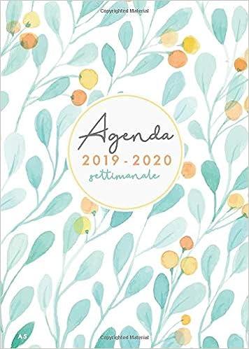 Agenda 2019 2020 settimanale A5