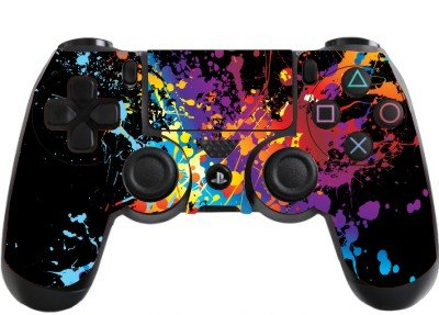 Price comparison product image the grafix studio Paint Splats Playstation 4 (Ps4) Controller Sticker / Skin / Decal / Ps30