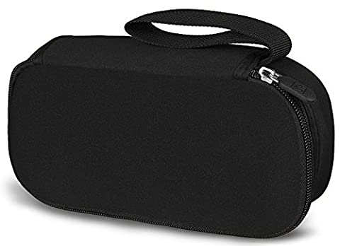 WATERFLY Class Black Travel Organizer / Carry Case Bag Pouch Cover Pack Holder For AC Adapter Laptop Charger Power Cord Mouse Electronics Accessories MP3 MP4 Cell Phone Smartphone USB Cable (Phone Mp4)