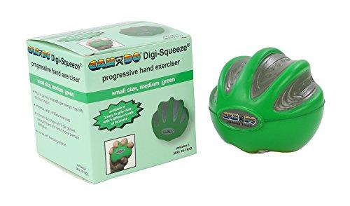 CanDo Digi-Squeeze Hand Exerciser, Green: Medium Resistance, Small