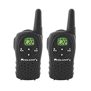 Midland LXT110 12-Mile 22-Channel FRS/GMRS Two-Way Radio (Pair)