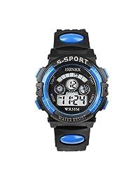 XILALU Kid's Watch,Waterproof Children Boy Digital LED Quartz Alarm Date Sports Wrist Watch