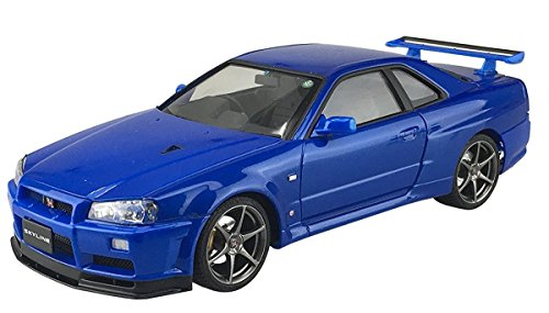 1/24 Pre-Painted Model series No.31R34 Skyline GT-R V-SpecII (Bayside Blue) (japan import)