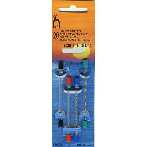 Pony - Agujas flexibles para enfilar (20 unidades de varios tamaños) PONY_P16001-1