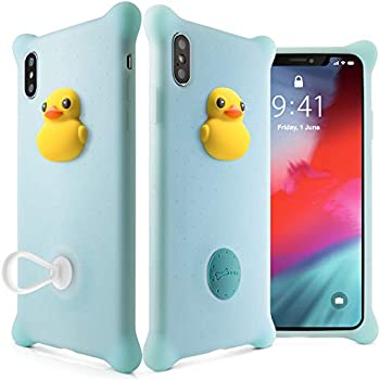 Bone Collection iPhone Xs Max Case, Drop Protection Air Cushion Silicone Case with Ring Holder Cute Animal Cartoon Girls Women Design for iPhone Xs Max 2018 ...