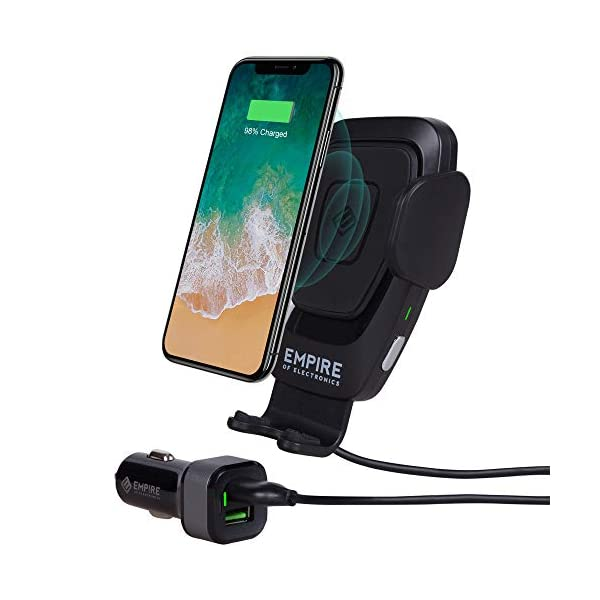 41yvG%2BPyqRL. SS600 - Empire of Electronics Wireless Car Charger Mount | Automatic Phone Holder 10W Qi Fast Charging Power | Cell Phone Air Vent Clamping | For iPhone XS/XS Max, XR, X/8/8 Plus, Samsung Galaxy S10/S9/S8/S7