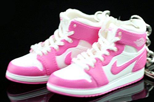Pair Air Jordan I 1 Retro High Pink White AJKO OG Sneakers Shoes 3D Keychain Figure (Jordan 1 Retro High Gold Top 3)