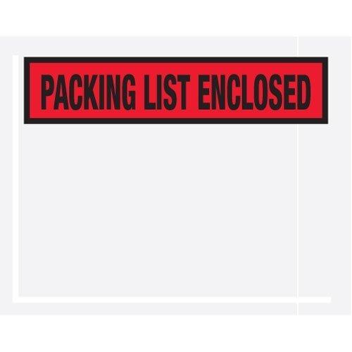 "Box Partner 4 1/2″ x 5 1/2″ Blue""Packing List Enclosed"" Panel Face (PL454) Category: Packing List Envelopes"