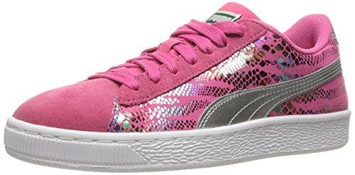 Puma Suede Sport Lux Kids Sneaker (Big Kid) Fandango Pink/ Puma Silver