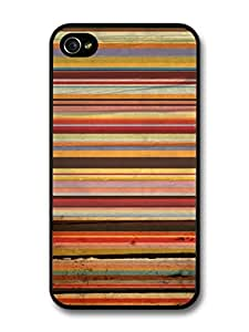 Orange Brown Purple Horizontal Stripes Autumn Fall Colours Cool Hipster Pattern For Apple Iphone 5/5S Case Cover