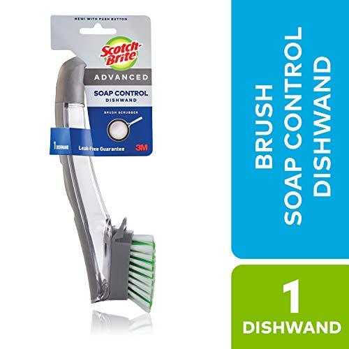 - Scotch-brite Scotch-brite Advanced Brush Soap Control Dishwand, Multicolor