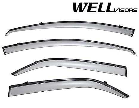WellVisors Window Visors 10-13 For Kia Forte Sedan Sun Visors Deflectors